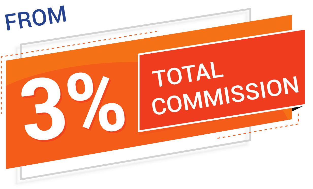 From 3 Percent Total Commission